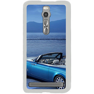 ifasho Long Car in beach Back Case Cover for Asus Zenfone 2