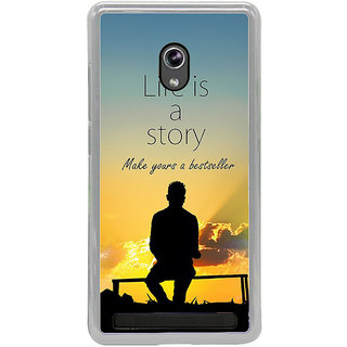 ifasho Good messge on Books life is a story Back Case Cover for Asus Zenfone 5