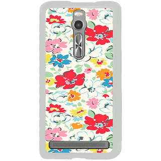 ifasho Animated Pattern colrful flower with leaves Back Case Cover for Asus Zenfone 2