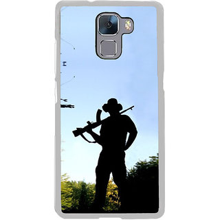ifasho Army man With Gun Back Case Cover for Honor 7