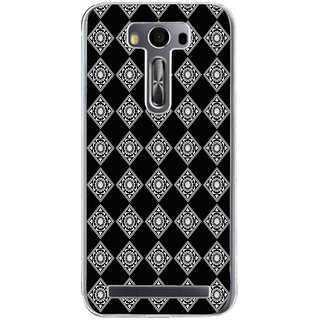 ifasho Modern Theme of royal design in black and white pattern Back Case Cover for Asus Zenfone Selfie