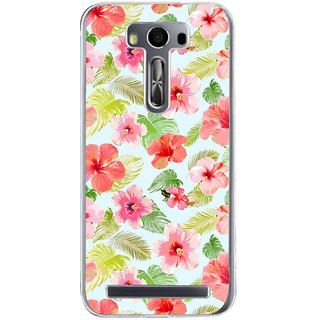 ifasho Animated Pattern mander flower with leaves Back Case Cover for Asus Zenfone Selfie