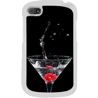 ifasho Rose in water glass with Drop of water Back Case Cover for BLACKBERRY Q10