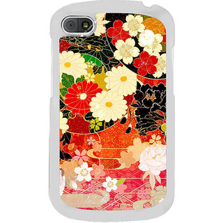 ifasho Animated Pattern flower with leaves Back Case Cover for BLACKBERRY Q10