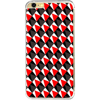 ifasho Colour Full triangle inside Square Pattern Back Case Cover for Apple Iphone 6