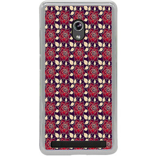 ifasho Animated Pattern black and white many lotus flower Back Case Cover for Asus Zenfone 6