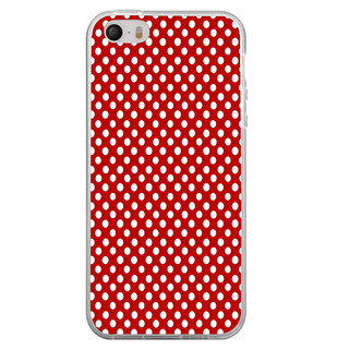 ifasho Animation Clourful white Circle on red background Pattern Back Case Cover for Apple Iphone 4
