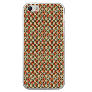 ifasho Animated Pattern With flower inside Circle  Back Case Cover for Apple Iphone 4