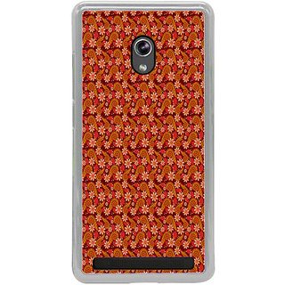 ifasho Animated Pattern colrful design flower with leaves Back Case Cover for Asus Zenfone 6