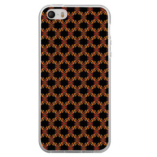 ifasho Animated Pattern design colorful flower in black background Back Case Cover for Apple Iphone 4