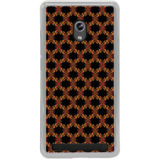 ifasho Animated Pattern design colorful flower in black background Back Case Cover for Asus Zenfone 6
