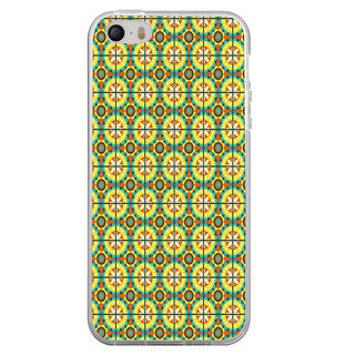 ifasho Animated Pattern design colorful flower in royal style with lines Back Case Cover for Apple Iphone 4