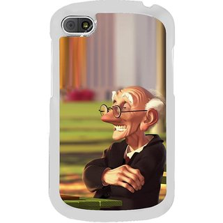 ifasho Old man playing chess animated design Back Case Cover for BLACKBERRY Q10