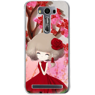 ifasho Girl  with Flower in Hair Back Case Cover for Asus Zenfone Go