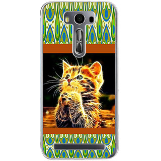 ifasho Cat with big eyes animated designed Back Case Cover for Asus Zenfone Go