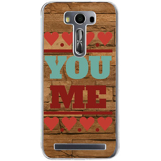 ifasho Quote On Love you and me Back Case Cover for Asus Zenfone Selfie