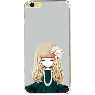 ifasho Girl  with Flower in Hair Back Case Cover for Apple Iphone 6