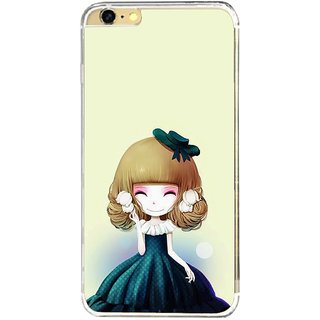 ifasho Winking Girl with green Cap Back Case Cover for Apple Iphone 6