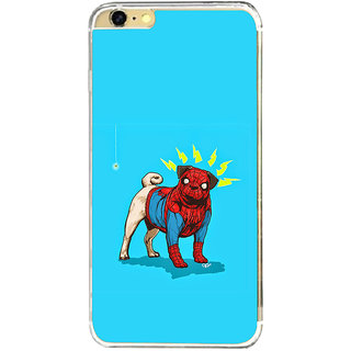 ifasho Dog wearing spiderman dress animated Back Case Cover for Apple Iphone 6