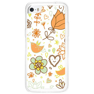 ifasho Animated Pattern colrful design cartoon flower with leaves Back Case Cover for Apple Iphone 5C