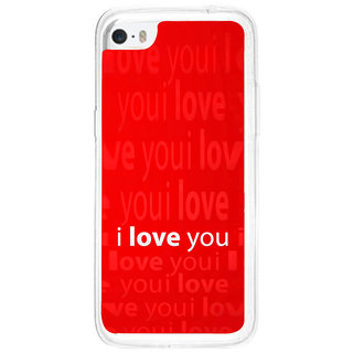 ifasho Love Quotes I love you Back Case Cover for Apple Iphone 5C