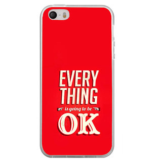 ifasho everything will be ok quotes Back Case Cover for Apple Iphone 4