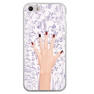 ifasho girl finger with nail polish design Back Case Cover for Apple Iphone 4