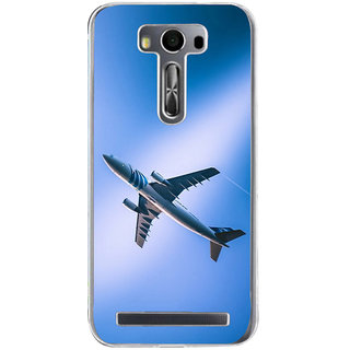 ifasho aeroPlane flying in blue sky Back Case Cover for Asus Zenfone Go