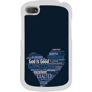 ifasho Quotes on God inside a heart Back Case Cover for BLACKBERRY Q10