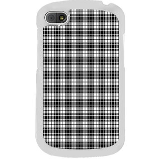ifasho Modern Theme of black and white Squre lines Back Case Cover for BLACKBERRY Q10