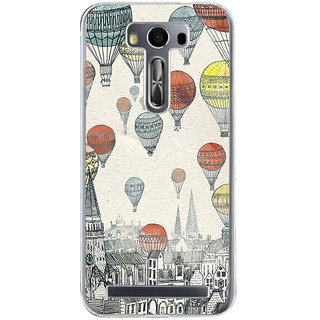 ifasho city with artistic hot air baloon Back Case Cover for Asus Zenfone Go