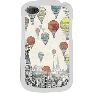 ifasho city with artistic hot air baloon Back Case Cover for BLACKBERRY Q10