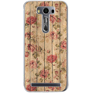 ifasho Modern Art Design painted flower on wood Back Case Cover for Asus Zenfone Go