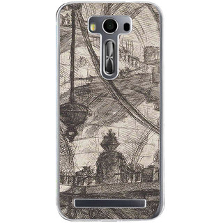 ifasho Modern art painting of city Building  Back Case Cover for Asus Zenfone Go