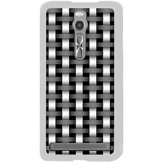 ifasho Modern Art Design animated cloth Pattern of black and white bamboo style Back Case Cover for Asus Zenfone 2