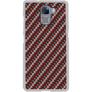 ifasho multi color Triangle rectangle and circle Pattern Back Case Cover for Honor 7