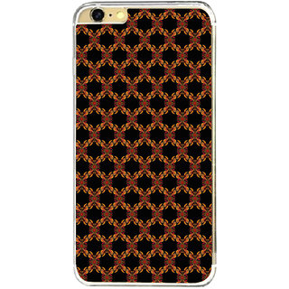 ifasho Animated Pattern design colorful flower in black background Back Case Cover for Apple Iphone 6