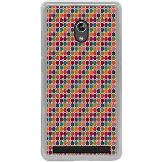 ifasho Animated Pattern  littel and Big colourful Circle Back Case Cover for Asus Zenfone 6