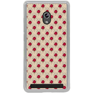 ifasho Animated Pattern small red rose flower Back Case Cover for Asus Zenfone 6