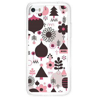 ifasho Animated Pattern colrful tribal design cartoon flower Back Case Cover for Apple Iphone 5C