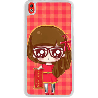 ifasho Crazy Girl Back Case Cover for HTC Desire 816