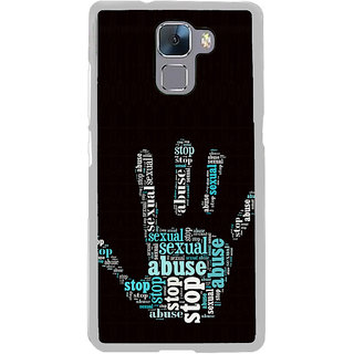 ifasho Modern Art Design  words in palm stop abuse Back Case Cover for Honor 7