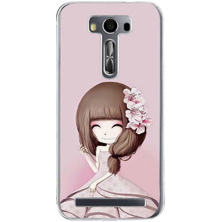 ifasho Cute Girl with Ribbon in Hair Back Case Cover for Asus Zenfone Selfie