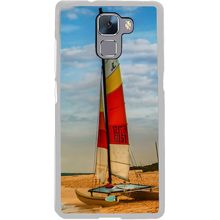ifasho Boat in a beach Back Case Cover for Honor 7