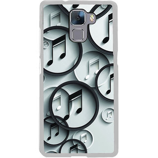 ifasho Modern Art Design Pattern Music symbol Back Case Cover for Honor 7