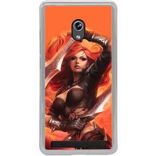 ifasho Girl with blade animated Back Case Cover for Asus Zenfone 6