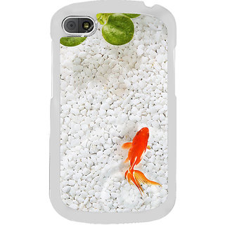 ifasho Fish in water with stone acquarium Back Case Cover for BLACKBERRY Q10