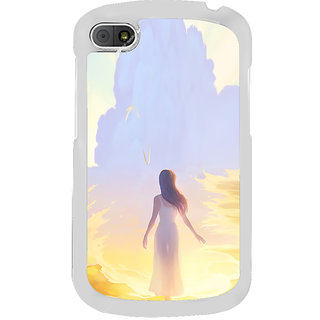 ifasho Girl painting Back Case Cover for BLACKBERRY Q10