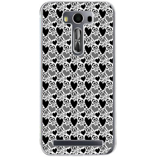 ifasho Modern Art Design Pattern with Lot Of small heart Back Case Cover for Asus Zenfone Go