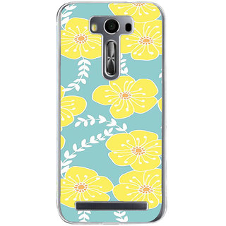 ifasho Animated Pattern flower with leaves Back Case Cover for Asus Zenfone Selfie
